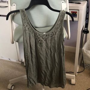 Green tank top size S